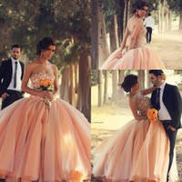 Princess Ball Gown Prom Dresses with Rhinestones and Sequins...