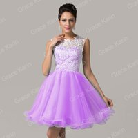 Grace Karin New Girls Tulle Ballgown Short Lace Zipper Cockt...