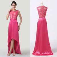 2015 Vintage Appliques Satin Long Prom Dresses Sleeveless Hi...