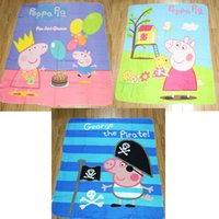 2014 New peppa pig Coral Fleece Blanket 100% Polyester kids ...