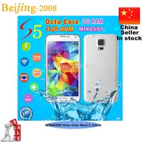 Hot s5 MTK6592 Octa core S5 3G WCDMA mobile Android 4. 4 Cell...