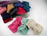 Girls Women Fashion Solid Knitted Headband New Lady Bowknot ...