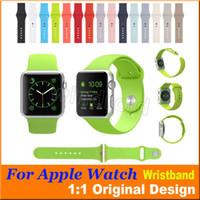 1: 1 Bracelet en silicone de conception originale en caoutchouc Bracelet en bracelet de remplacement coloré Bracelet pour Apple Regarder 38 mm 42 mm 100pcs DHL