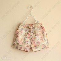 baby girl kids Vintage rose flower shorts floral shorts shor...