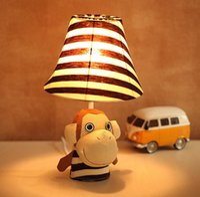 2pcs a bag Cartoon mouth monkey fabric lamps children' s...