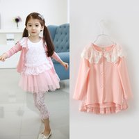 baby girl kids lace cardigan sweater coat blazers outfits sh...