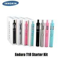 100% Original Innokin Endura T18 T18E Kit de Démarrage 1000mAh 14W Batterie 2.5 / 2.0ml Top Remplissage Atomiseur Verre Réservoir Boîte Cadeau