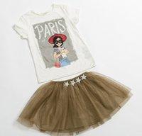 2015 Baby Summer Clothes Children Girls Tshirt Skirt Suit Ch...