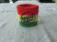promotional embroidery logo wrist sweatbands custom logo cus...