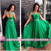 2015 Green Long Prom Dresses Bling Bling Rhinestone Crystals...