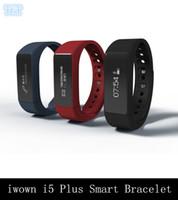 DHL FREE iwown i5 Plus Bracelet Smart Bracelet Bluetooth 4.0 étanche IP65 bande Smartband Activité Tracker Caller rappeler pour IOS Android