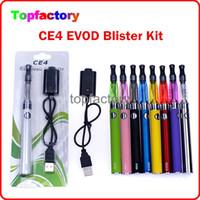 CE4 EVOD Blister Kits de inicio de electrónica kits de cigarrillos atomizador CE4 Blister 650mAh batería de 900mAh 1100mAh en la ampolla de embalaje colorido gratuito