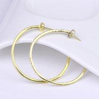 Boucles d'oreilles en argent Boucles d'oreilles bijoux de luxe pour les femmes Boucles d'oreilles en argent sterling et zircons cubiques de luxe pour la plaque d'or AES35090W