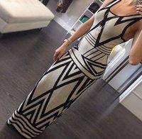 Striped Chervon Suspender Slim Woman Dress Lady Vest Dresses...