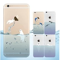 iPhone 6S Case 0. 3mm Ocean Animals Dolphin TPU Clear Transpa...
