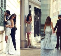 2015 Silver High Low Lace Beads Prom Dresses Sexy Beaded Rhi...