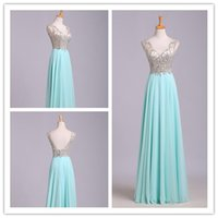 Actual Image Summer Style 2015 Sexy V Neck Prom Dresses Chif...