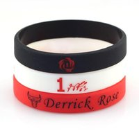 Custom Silicone Bracelet Bull Derrick Rose No. 1 basketball s...