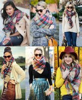 Hot Women' s Blanket Scarfs Plaid Oversized Tartan Scarf...
