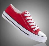 Бесплатная доставка самые популярные 13 цветов холст обувь lowhigh стиль классический холст обувь,зашнуровать кроссовки womenmen,студентов зашнуровать обувь