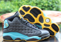 2016 new pauls top quality men Retro 13 cp black blue yellow...