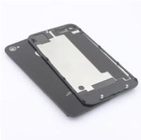 Bueno Guality Volver batería de cristal de la puerta de Vivienda el reemplazo de la Parte Con difusor de flash para el iphone 4 4G 4S DHL libre