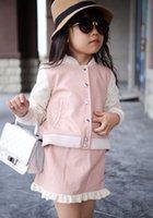 2015 New Fur Clothing Girls 2pcs Clothes Set Long Sleeved Bl...