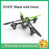 2,015 Hot modèle de vente sur Hubsan X4 H107C 2.4G Remote Control Helicopter Drones X6 RC Quadcopter 4CH RC avec lumière de la caméra