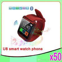 U8 Bluetooth montre intelligente Compagnon de téléphone GSM Pour IOS Iphone Android HTC SAMSUNG SONY téléphone cellulaire 50 pcs ZY-SB-03