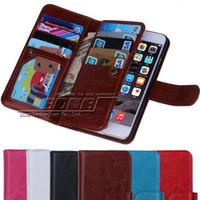 Pour iphone 6 4,7 / Plus 5,5 pouces multifonctions Flip Cover Case portefeuille en cuir Avec magnétique détachable Photo Frame 9 fentes de cartes iPhone6