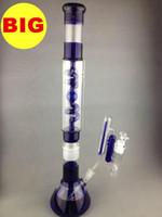 Big COIL CONDENSER BONG 036 2016 nouveau design trois pièces tuyaux d'eau de bécher 56cm tuyaux de fumée en verre avec grand cendrier
