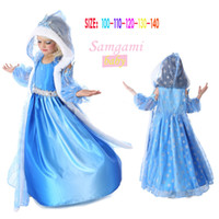 Frozen Dresses baby girls dresses Snowflakes sequined dres f...