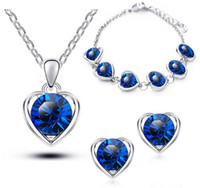 Newest S925 Sterling Silver Plated Jewelry Sets Heart- shaped...