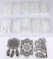 Henné floral blanc Paisley Flower Mandala plastique dur PC couvrir les cas Apple iPhone 4 4S 5 5S 5C 6 4.7 / Plus I2 5,5 iPhone6 6+ Samsung S6