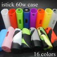 Silicone Case Silicon Cases sac manchon en caoutchouc coloré housse de protection en gel de silice peau pour Eleaf išmoka Istick 60 Watt 60W TC Batterie DHL