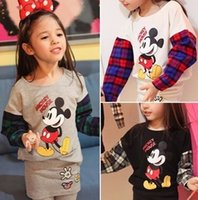 Spirng Korean Baby Kids Tshirts Long Sleeve Cartoon Mickey M...