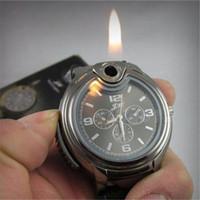 Горячая продавая новый Новинка Коллекционная Часы сигареты бутан зажигалка Зажигалки Часы Прикуриватель Бесплатная доставка