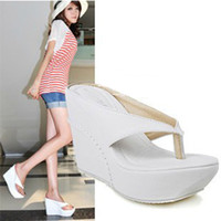 Small big size women shoes flip flop wedge sandals girls hig...