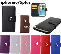 Flip Wallet PU Leather Cover Cases With Card Slots For iphon...