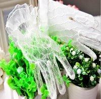 Girl Wedding Dress Finger Gloves Child Lace Flower Gown Ball...