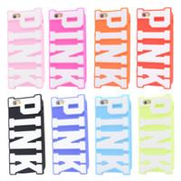 Последним 2015 мягкая кремния дизайн розовый большой розовый буква Виктория телефон iphone 5 5g 5s секрет Капа Celular
