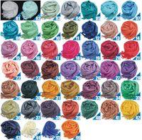 fashion2014 Pashmina Cashmere Solid Shawl Wrap Women' s ...