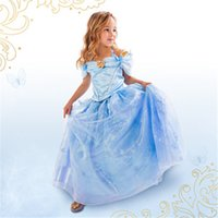 2015 Cinderella Dress With LaceTulle Satin Gown Maxi Dress G...