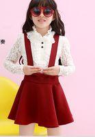Baby Girl Set Lace Long Sleeve T- shirt Skirt 2015 Spring Kid...