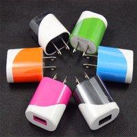 Universal Portable Dual Colors US Plug USB Wall Charger Trav...