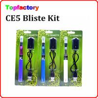 eGo CE5 cigarrillo electrónico kit ego Blister de arranque con CE5 no clearomizer atomizador mecha para e líquido 650 900 1100 mAh ego t batería