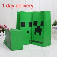 Free shipping Minecraft Popcorn bag Creeper Minecraft party ...