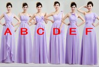 Pretty Best Selling A- Line Chiffon Floor Length Purple Lace-...