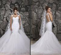 2015 Sheer Wedding Dresses Vestidos De Noiva Spaghetti Illus...