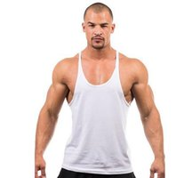 Retail Solid summer cotton men sport vest, gym fitness sleeve...